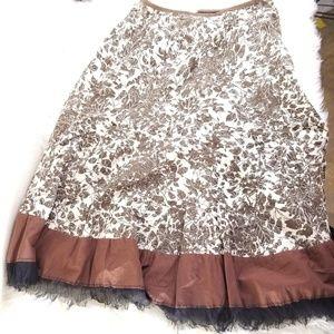 Nygard Collection Floral A-Line Midi Skirt